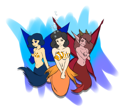 Mermaids Day Doodle by zylladys