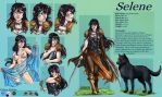 commission 52-Selene charachter sheet by LadyDeddelit
