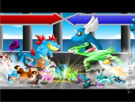 Pokemon - Charge Battle by tydrian