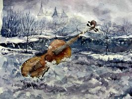 a forgotten violin by jesin-amina
