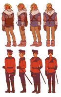 Character Turn Arounds by batcii