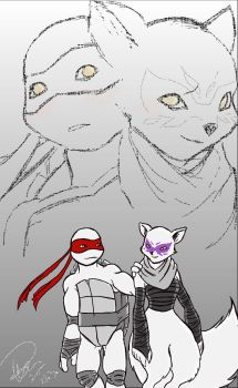 Raph and Alopex by Sherenelle