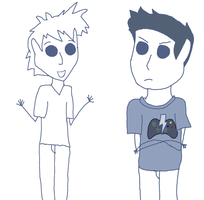 RoosterTeeth Animated Adventures Gavin and Micheal by Skittles91k