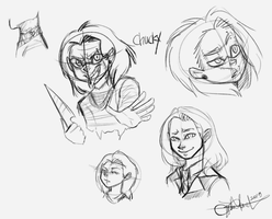 Chucky Sketches! by CharlotteRay