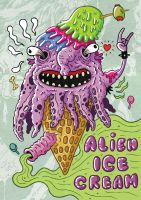 Alien Ice Cream by UgandaLebre