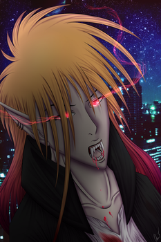 Bleach Vampire AU - Ichigo by QueenieBlack