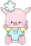 This little piggy likes to COOK! by Estherella