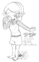 OoT-- Saria, fun with fairy by KH-LoZ-er