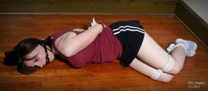 Immobilized cheerleader by dungeonguy59