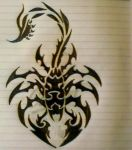 Scorpio Tribal Tattoo by mindsetteler