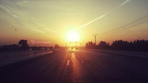 Road at Sunrise 3 by dreamh