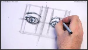 Learn how to draw two eyes 014 by drawingcourse