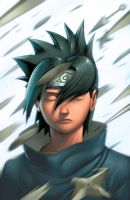 Sasuke Portrait colors by danimation2001