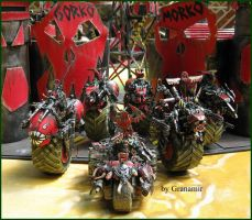warboss and nobs in bikes by Granamir by Granamir