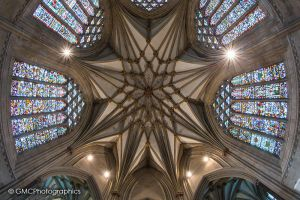 Looking Up at Wells Cathedral by GMCPhotographics