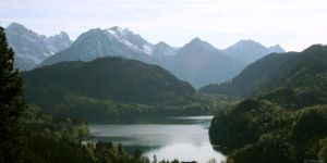 Lake near Neuschwanstein by NHuval-stock