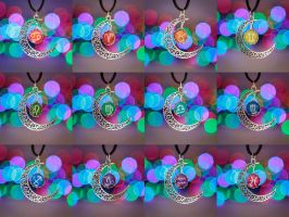 Zodiac Moon Necklaces by FrozenNote
