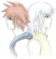 Kingdom Hearts: Sora And Riku by LimeHead