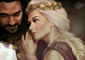 King Arthur and Guinevere by Nismiana