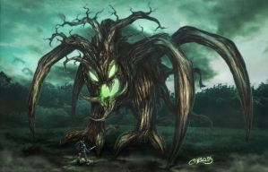 Spider Tree-life colosus- by SalcorID