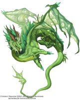 Etheric Dragon Concept - Beastiary 5 by The-SixthLeafClover