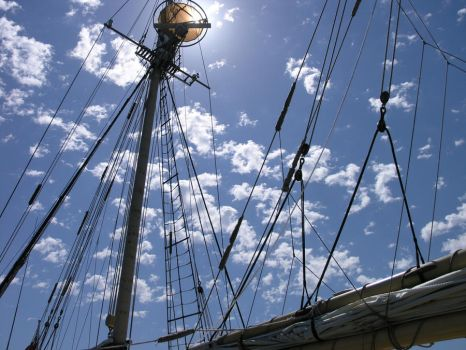Sun on the rigging by Naxios10