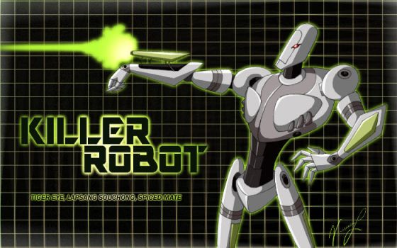 TZP Tea:  Killer Robot by darkangelkelos