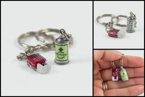 Resident Evil Supply Charms Commission by WispyChipmunk