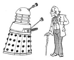 First Doc + Dalek toon by IronOutlaw56