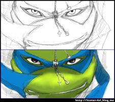 TMNT-Leonardo-not completed by leonardolz