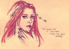Fairy.Queen.Sketch 8.14.2015 by amirafox