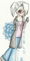 Kahlo ~ Chibi Traditional by RubyStone11