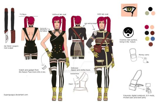 lamia my other Oc. ref sheet. ( REUpdated) by Yumanae