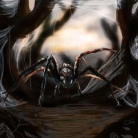 Giant spider by Jakeaferr