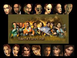Lara Croft Wallpaper Mix by madam-lara-croft