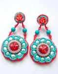 Bead Embroidery Earrings IV by annafjellborg