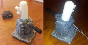 3D Printed CIWS with moving barrel by DJBrowny