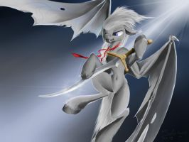 the Luna's guard is batpony by thelunarsea