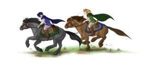Riding by Arianwen44