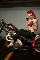 xErynnx and Bob's bike 6 by Vidiphoto