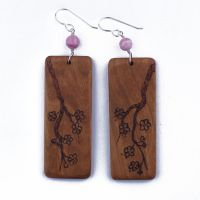 Cherry Blossoms Earrings by WoodsyAccents