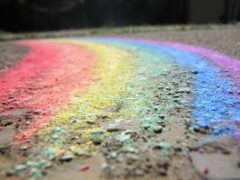 Rainbow on the Ground by CharlieRoz
