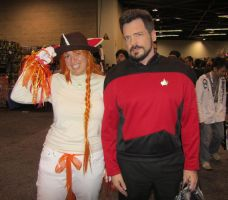 WC12-Rapidash and Commander William Riker by moonymonster