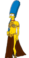Marge Simpson in Leia's Metal Bikini by darthraner83