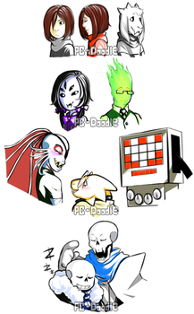 Monofell Character Doodles #1 by PC-Doodle
