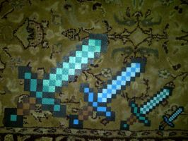 A Family of Diamond Swords by LingeringSentiments