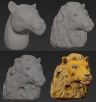 Cheeselion Concept Process by MasonCerulean