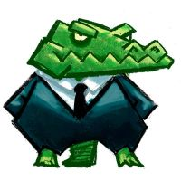 Croc in a Suit by JoelChua