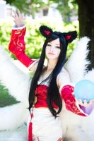 Ahri - The Nine-Tailed Fox by SamuiCosplay