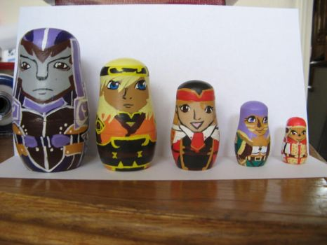 FFXI Russian Nesting Dolls by Bumblesweet